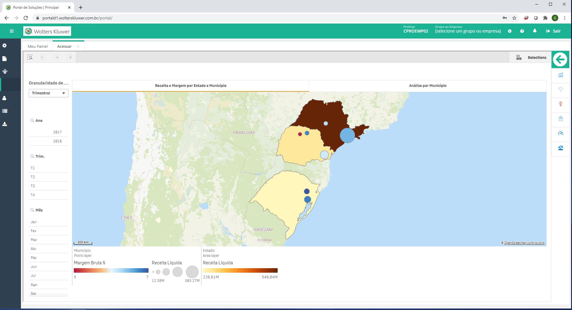 dash financeiro receita estado municipio Prosoft Analytics
